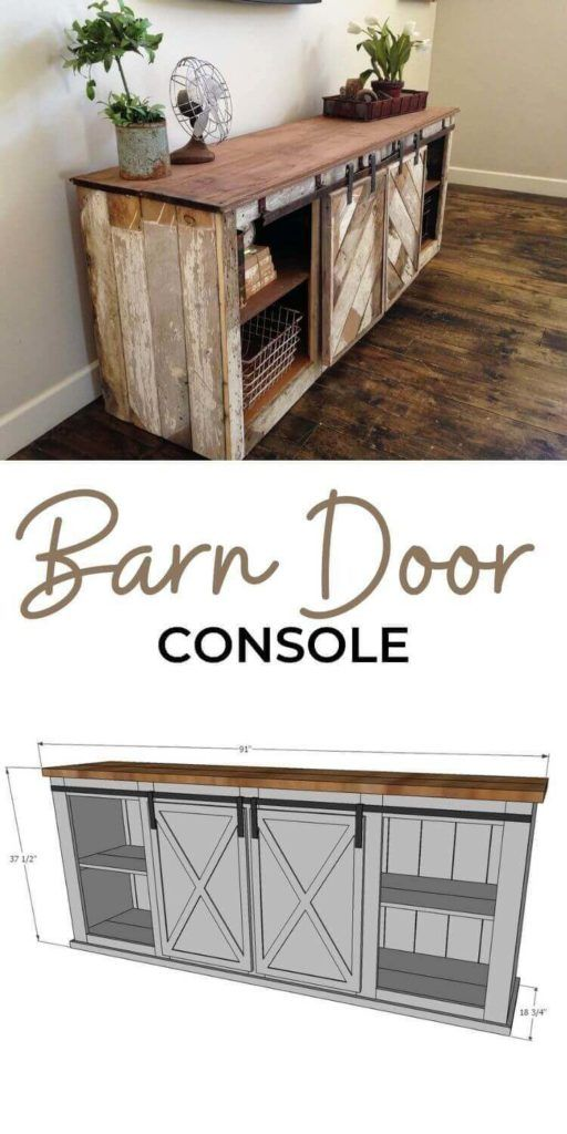 Grandy Barn Door Console