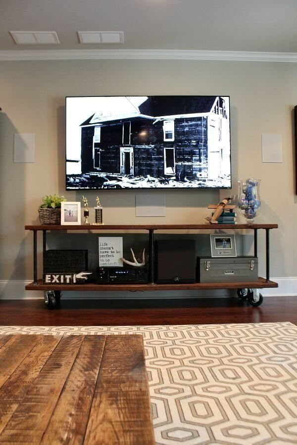 Industrial TV Console Table