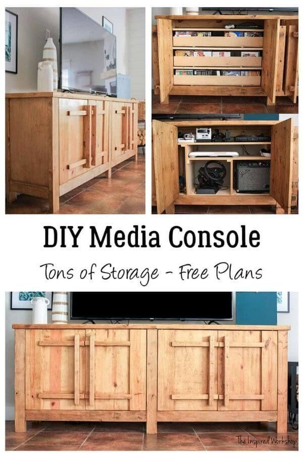 nspired Workshop's DIY TV Stand