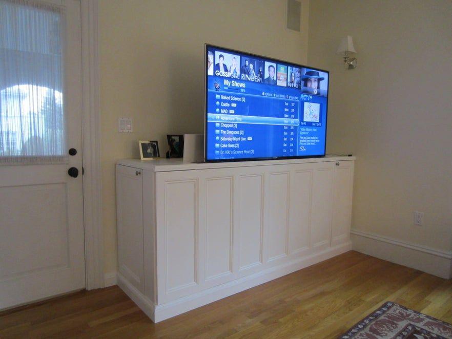 Instructables' DIY TV Lift Cabinet