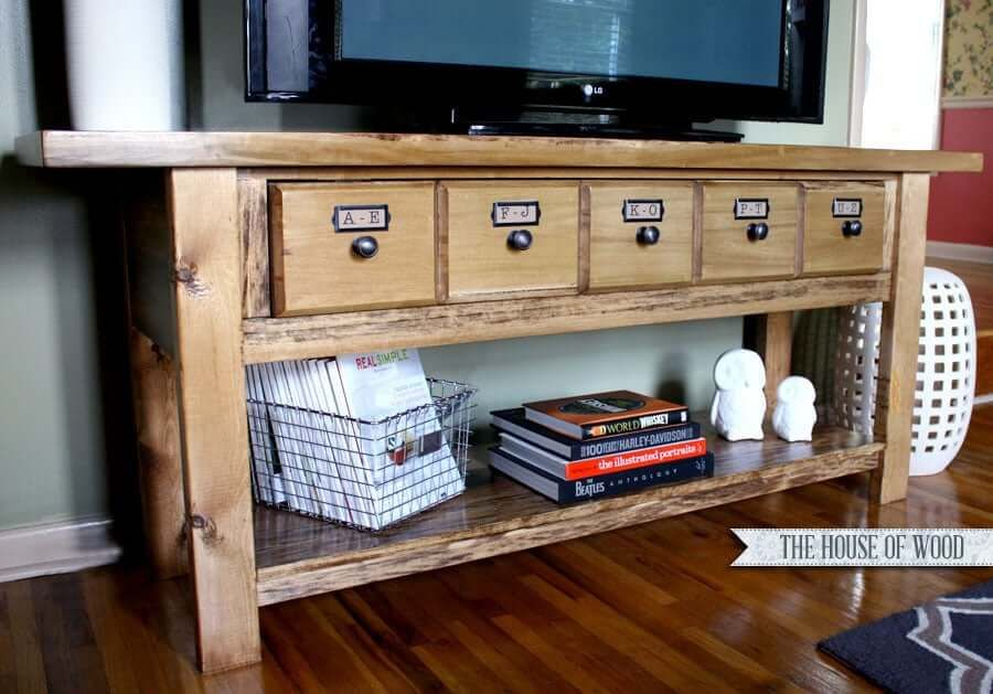 Pottery Barn-Inspired TV Stand