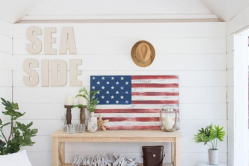 Rustic American Flag By Finding Silver Pennies