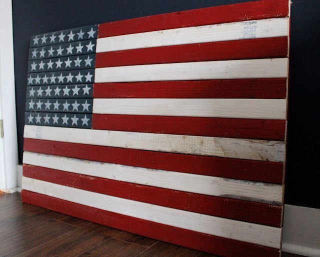 Rustic American Flag By The Yellow Cape Cod