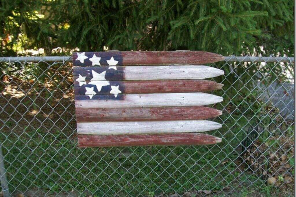 Rustic Flag With Freestyle Stars