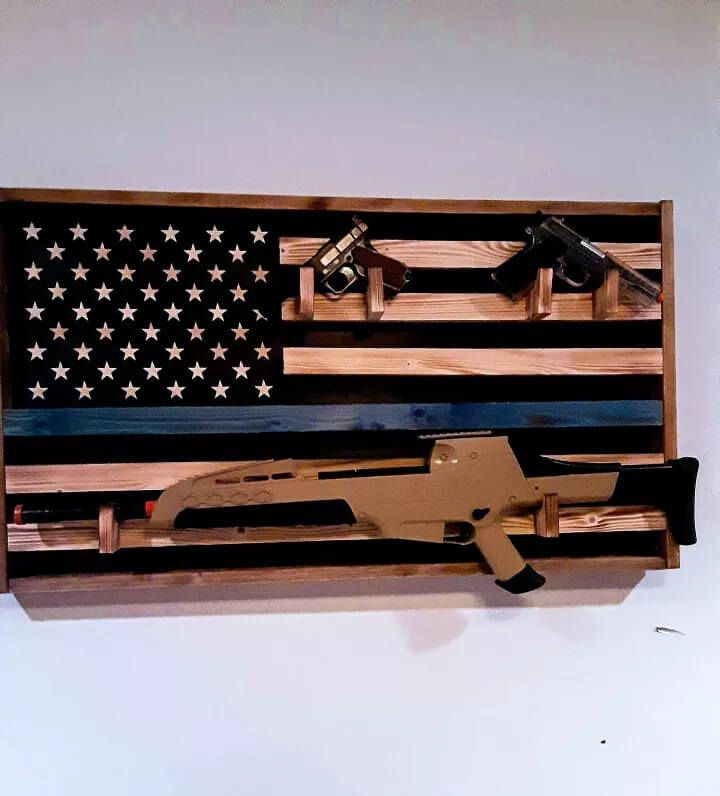 Wood American Flag For The Nation's Heroes